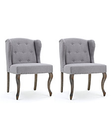Colven Wingback Accent Chair (Set Of 2), Quick Ship
