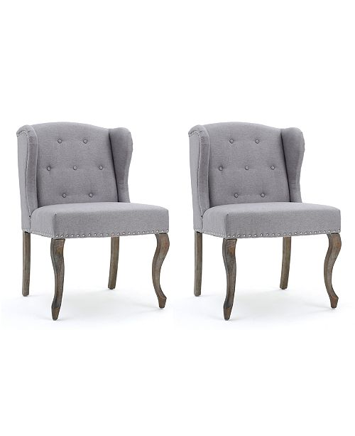 Carriage Co Colven Wingback Accent Chair Set Of 2 Quick Ship