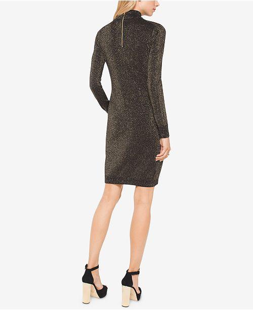 a2e1e21506 Michael Kors Metallic Choker Sweater Dress   Reviews - Dresses ...