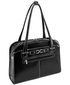 McKlein Mayfair Leather Laptop Briefcase