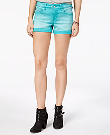 Celebrity Pink Juniors' Cuffed Colored Denim Shorts