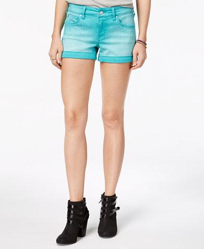 Celebrity Pink Juniors' Cuffed Colored Denim Shorts