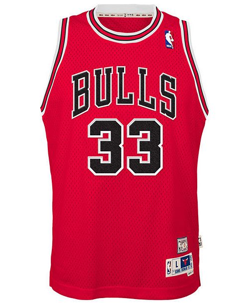 quality design 61342 68e7e Scottie Pippen Chicago Bulls Retired Player Swingman Jersey, Big Boys (8-20)