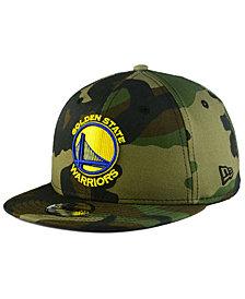 New Era Boys' Golden State Warriors Woodland Team 9FIFTY Snapback Cap
