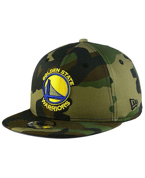 f7264836128 ... New Era Boys  Golden State Warriors Woodland Team 9FIFTY Snapback ...