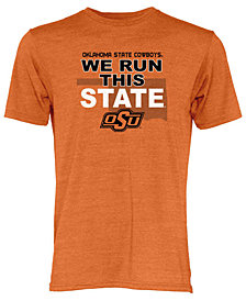 Blue 84 Men's Oklahoma State Cowboys We Run This State Tri-Blend T-Shirt
