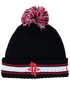 New Era Houston Rockets Basic Chunky Pom Knit Hat