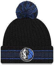 New Era Dallas Mavericks Basic Chunky Pom Knit Hat