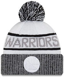 New Era Golden State Warriors Court Force Pom Knit Hat