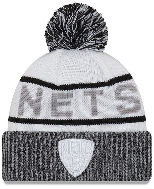 0ec0208d935 New Era Brooklyn Nets Court Force Pom Knit Hat - Sports Fan Shop By ...