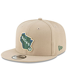 New Era Milwaukee Bucks Team Metallic 9FIFTY Snapback Cap