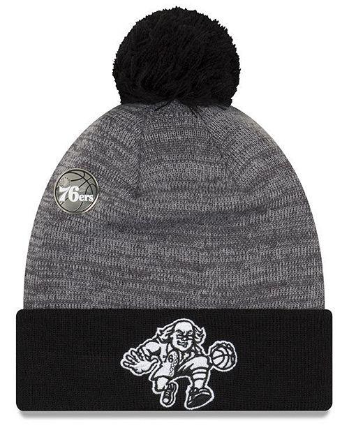 New Era Philadelphia 76ers Pin Pom Knit Hat - Sports Fan Shop By ... 124cdc6f264