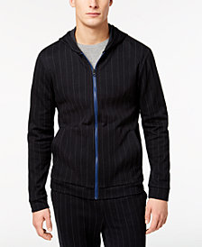 Kenneth Cole Men's Pinstripe Full-Zip Hoodie