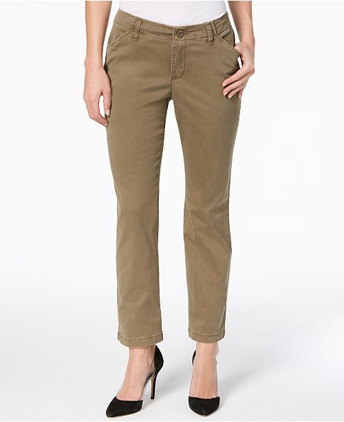b99a65fc Lee Platinum Petite Straight-Leg Pants & Reviews - Pants & Capris ...