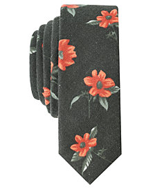 Original Penguin Men's Tropical Floral Skinny Tie