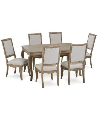 Martha Stewart Bergen Dining Furniture, 7 Pc. Set (Expandable Dining