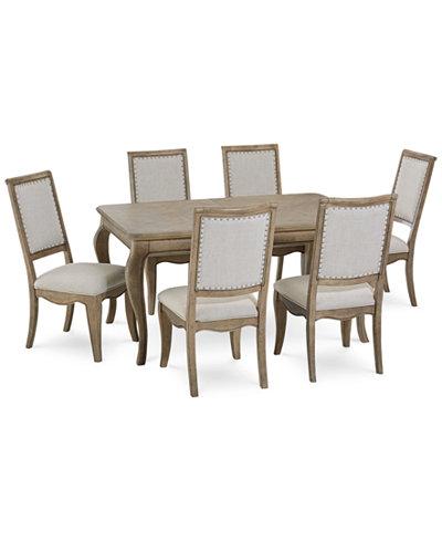 Martha Stewart Bergen Dining Furniture 7 Pc Set