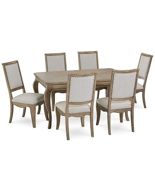 Furniture Martha Stewart Bergen Dining Furniture, 7-Pc. Set ...