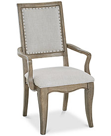 Martha Stewart Bergen Upholstered Armchair, Created for Macy's