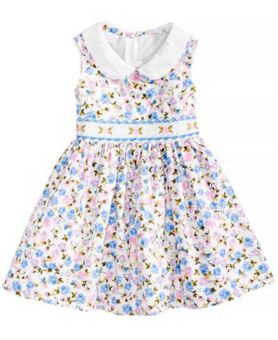 Bonnie Baby Floral-Print Smocked Dress, Baby Girls