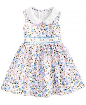 Bonnie Baby Floral-Print Smocked Dress, Baby Girls thumbnail