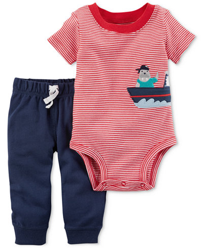 Carter's 2-Pc. Cotton Bodysuit & Pants Set, Baby Boys