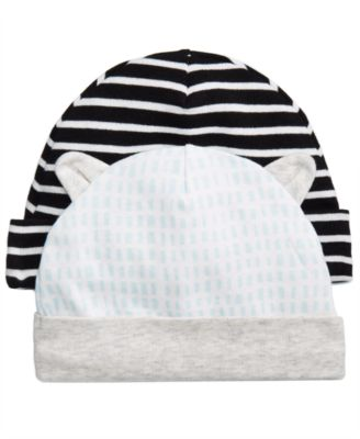2-Pk. Striped & Printed Cotton Hats, Baby Boys, Created for Macy's