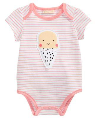 Ice Cream Bodysuit, Baby Girls, Created for Macy's