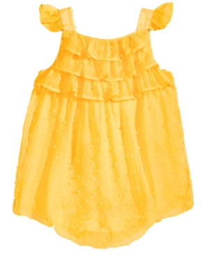 First Impressions Ruffled Bubble Romper Baby Girls Created for Macys
