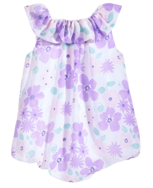 First Impressions FloralPrint Bubble Romper Baby Girls Created for Macys