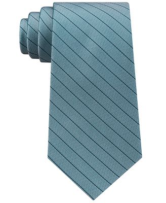Calvin Klein Men's Slim Pastel Stripe Silk Tie