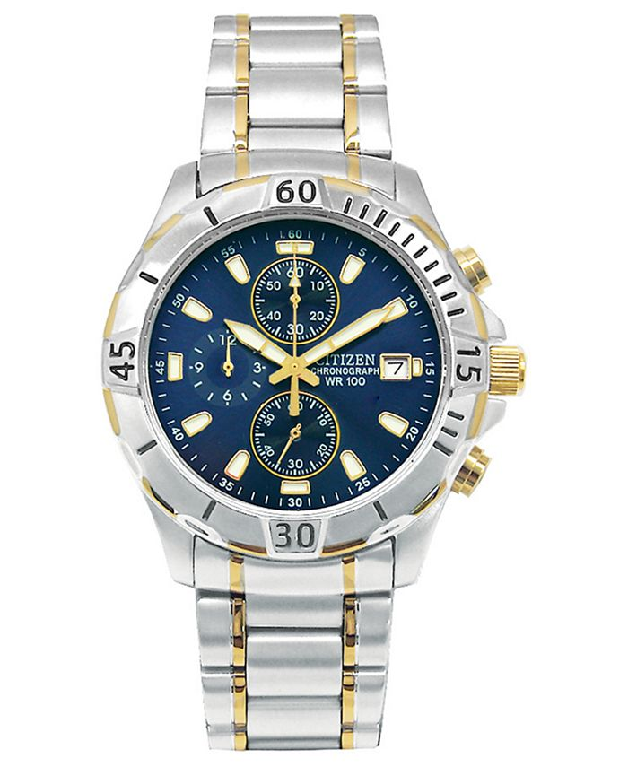 Citizen - Men's Chronograph Two Tone Stainless Steel Bracelet Watch 41mm AN3394-59L