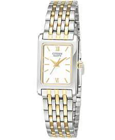 Citizen Women's Two Tone Stainless Steel Bracelet Watch 18mm EJ5854-56A