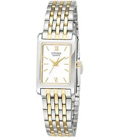 Citizen Women's Two Tone Stainless Steel Bracelet Watch 18mm EJ5854-56A