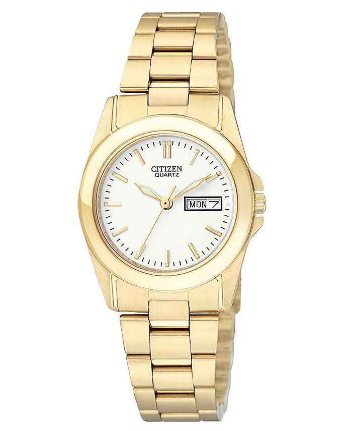 Citizen - Women's Gold-Tone Stainless Steel Bracelet Watch 28mm EQ0562-54A