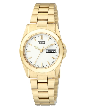 Citizen Women's Gold-Tone Stainless Steel Bracelet Watch 28mm EQ0562-54A