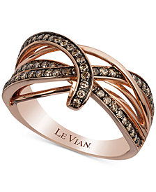 Le Vian Chocolatier® Gladiator Weave™ Diamond Ring (5/8 ct. t.w.) in 14k Rose Gold