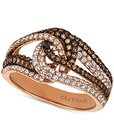 Le Vian Chocolatier® Diamond Looped Ring (1 ct. t.w.) in 14k Rose Gold