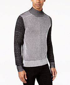 Sean John Men's Plaited Chevron Mock-Neck Cardigan, Created for Macy's