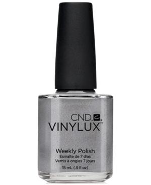 Creative Nail Design Vinylux Silver Chrome Nail