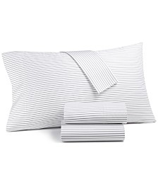 Charter Club Damask Designs Printed Pinstripe Queen 4-pc Sheet Set, 500 Thread Count, Created for Macy's