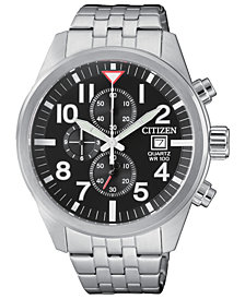 Citizen Men's Chronograph Stainless Steel Bracelet Watch 43mm