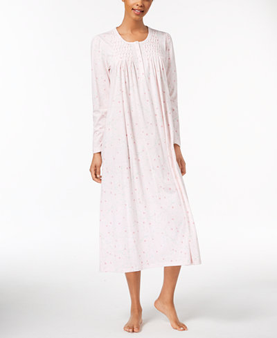 Charter Club Floral-Print Cotton Nightgown, Created for Macy's
