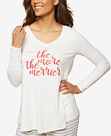 Motherhood Maternity The More The Merrier Side Access Graphic Pajama Top
