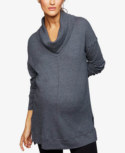 Splendid Maternity Cowl-Neck Sweatshirt