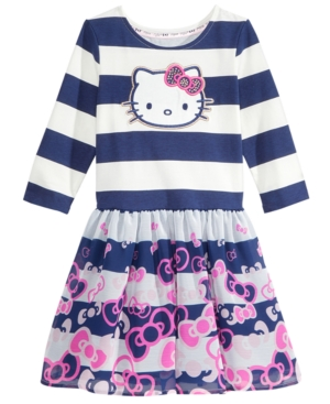 Hello Kitty BowPrint Striped Dress Toddler Girls (2T5T)