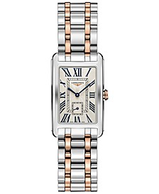 Women's Swiss DolceVita 18K Rose Gold & Stainless Steel Bracelet Watch 23x37mm