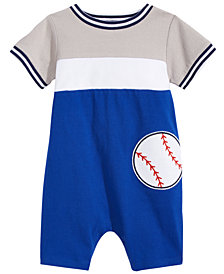 First Impressions Baseball Romper, Baby Boys, Created for Macy's