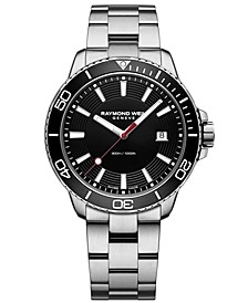 Men's Swiss Tango Diver Stainless Steel Bracelet Watch 42mm