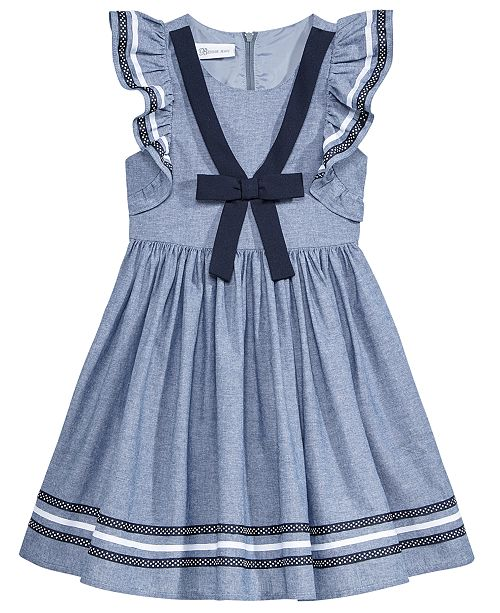 12758f76ca4 Bonnie Jean Chambray Sailor Dress, Toddler Girls & Reviews - Dresses ...